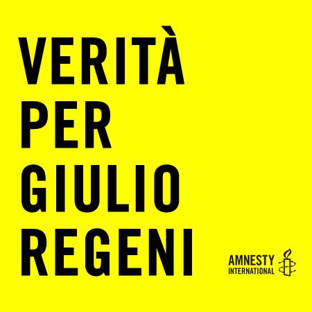 Immagine della campagna Verità per Giulio Regeni